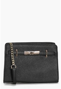 Eva Turn Lock Mini Tote Cross Body Bag