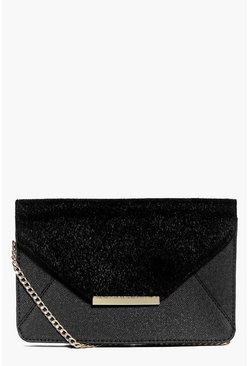 Iris Metal Trim Faux Pony Cross Body Bag
