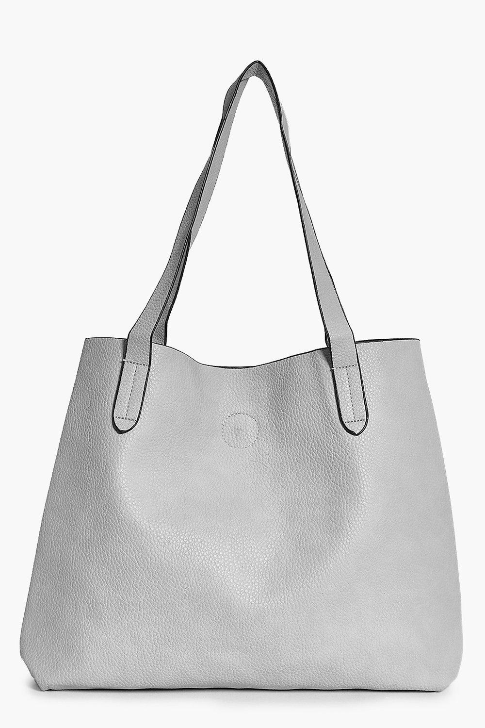 Basic Popper Shopper Bag - grey - Victoria Basic P