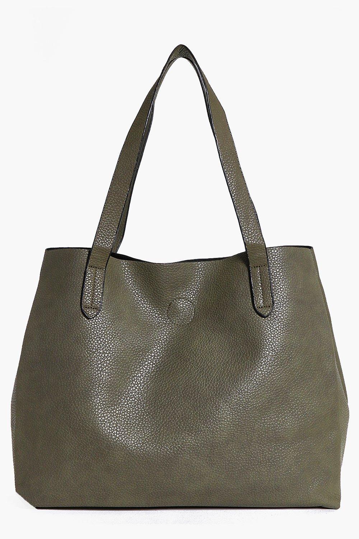 Basic Popper Shopper Bag - khaki - Victoria Basic
