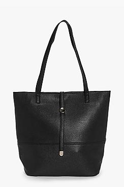 Natasha Metal Detail Shopper Bag