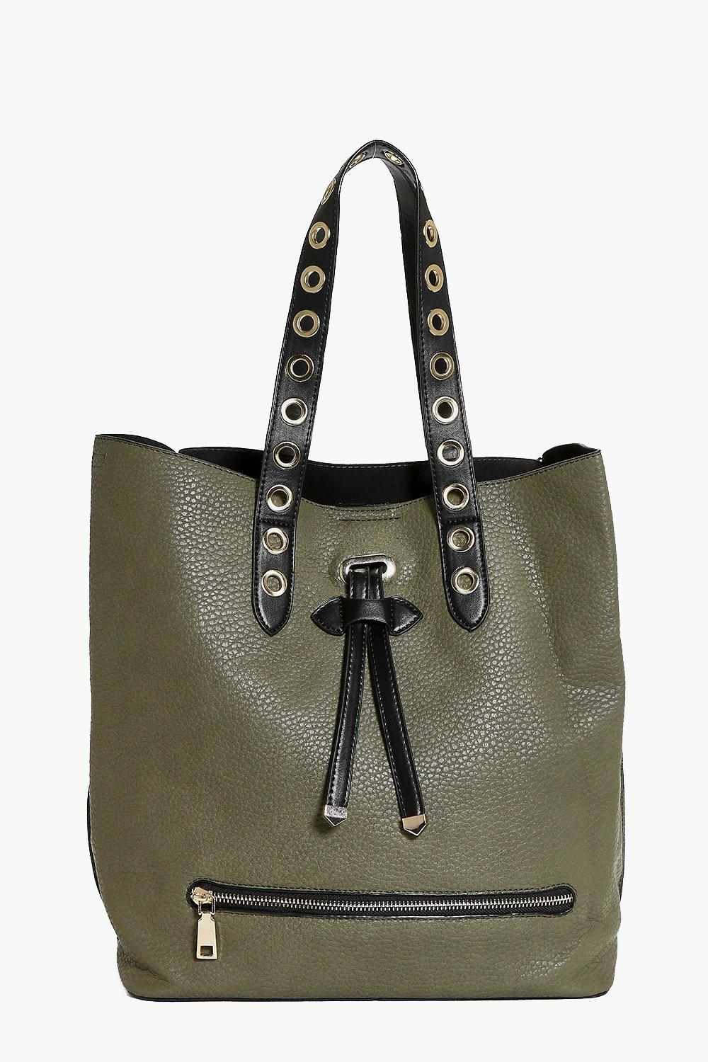 Heidi Eyelet Detail Shopper Day Bag
