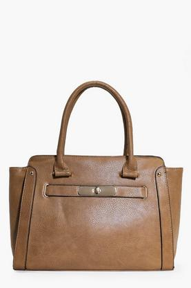 Darcy Oversize Turn Lock Clasp Day Bag