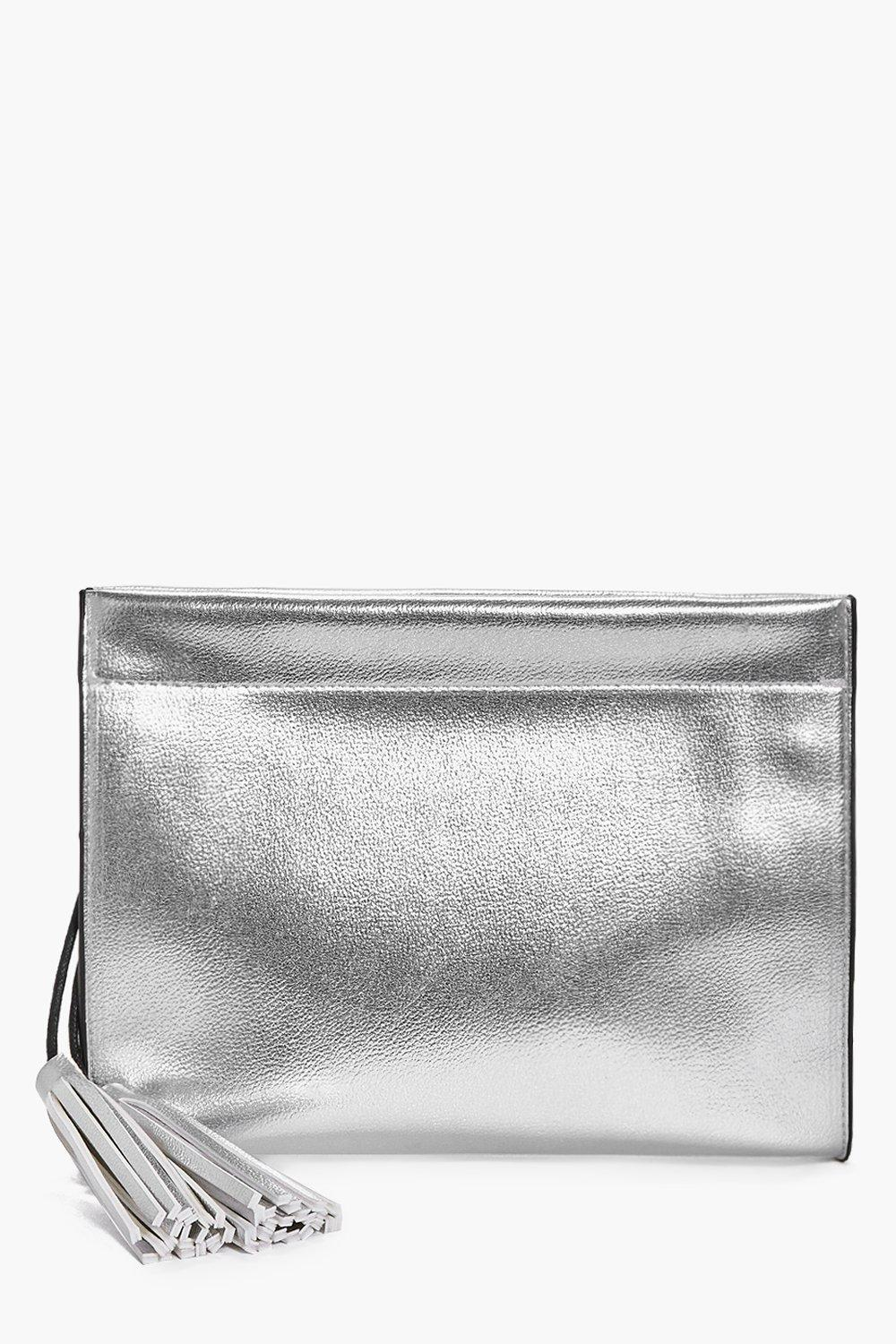 Maisy Metallic Structured Clutch Bag