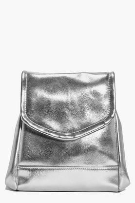 Sarah Structured Metallic Backpack