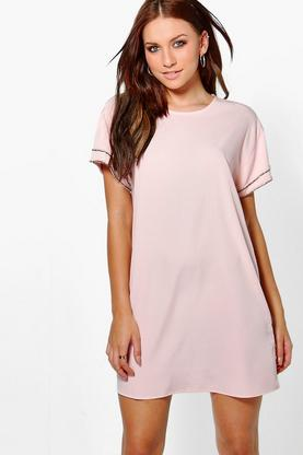 Gemma Embellished Sleeve Shift Dress