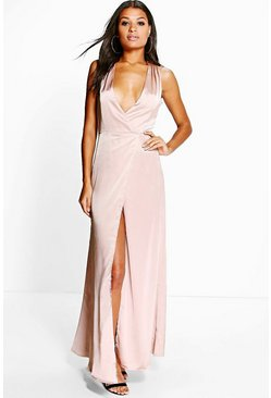 Boutique Sally Cross Over Wrap Maxi Dress