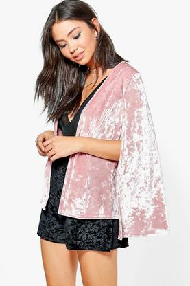 Martha Crushed Velvet Cape