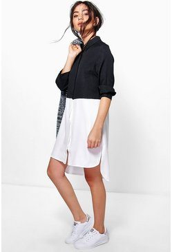 Edith Colour Block Shirt Dress