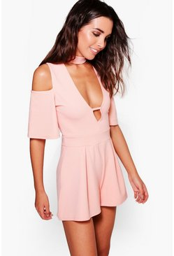 Lois Cold Shoulder Choker Style Playsuit