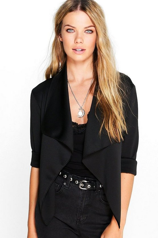 Katie Crop Waterfall Jacket