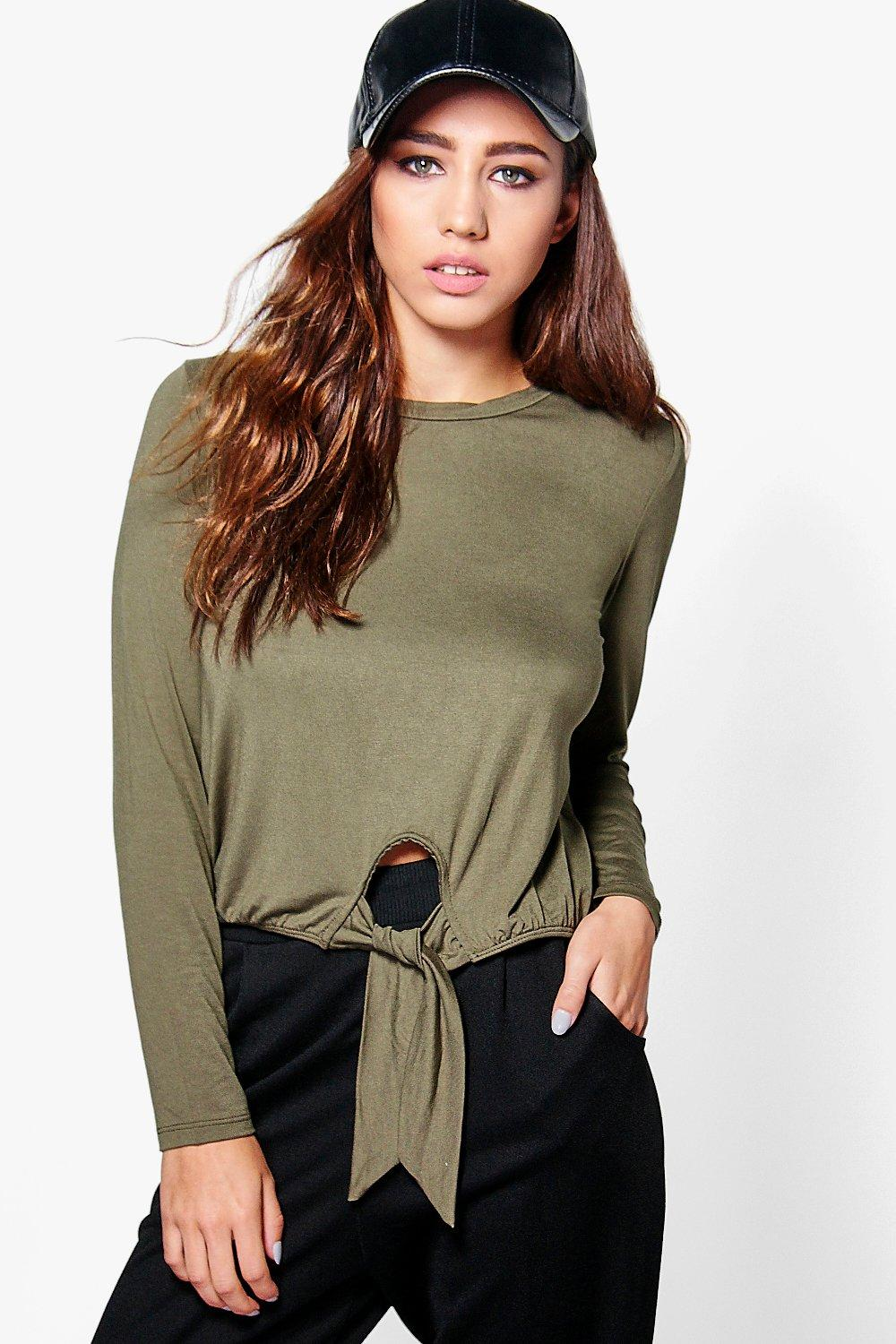 Taylor Long Sleeve Tie Front Top