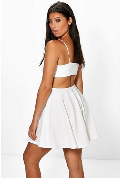 Kealy Strappy Wide Back Strap Skater Dress