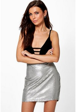 Boutique Iman Glitter Sequin Mini Skirt