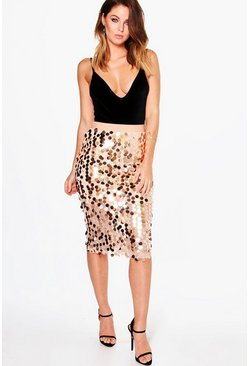Boutique Kati Larger Sequin Midi Skirt