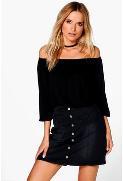 Hope Off The Shoulder Long Sleeve Top