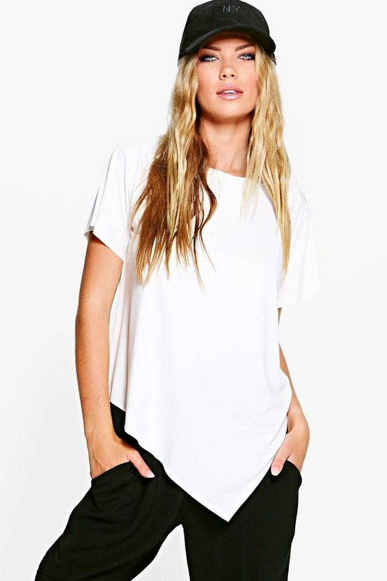 Hayley Asymmetric Hem T-Shirt