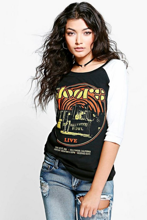 Holly The Doors Contrast Raglan Band T-Shirt