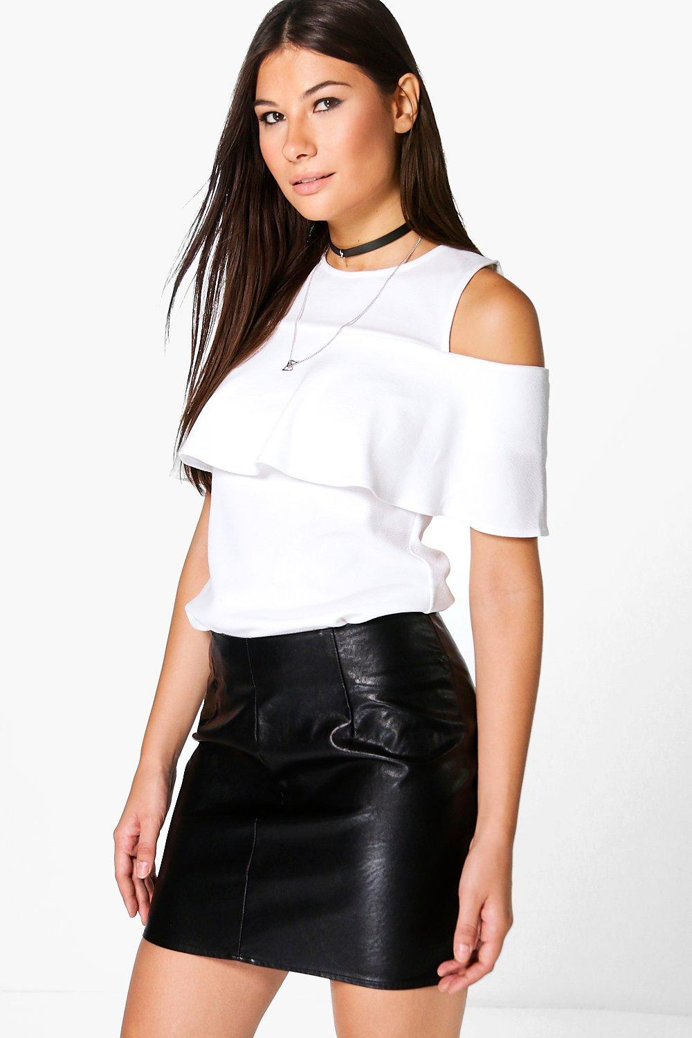 Isla Cold Shoulder Ruffle Top