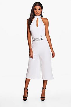 Amy Chain Detail High Neck Jumpsuit