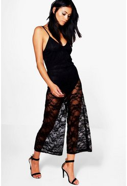 Lois All Over Lace Culotte Jumpsuit