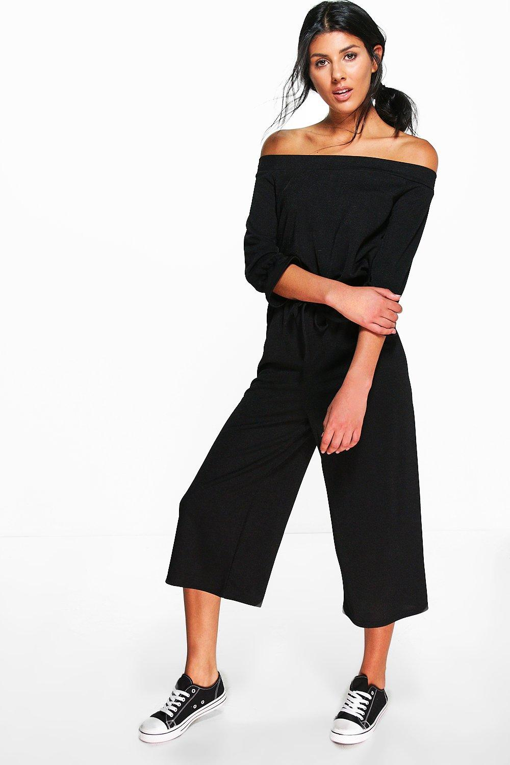 Rose Off The Shoulder Jumpsuit