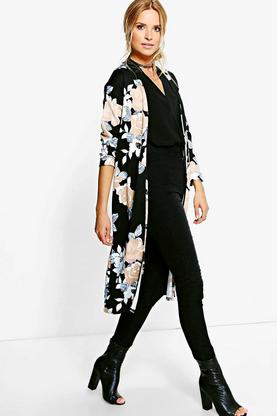 Charlotte Floral Collarless Duster