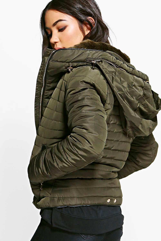 Emma Crop Bubble Coat