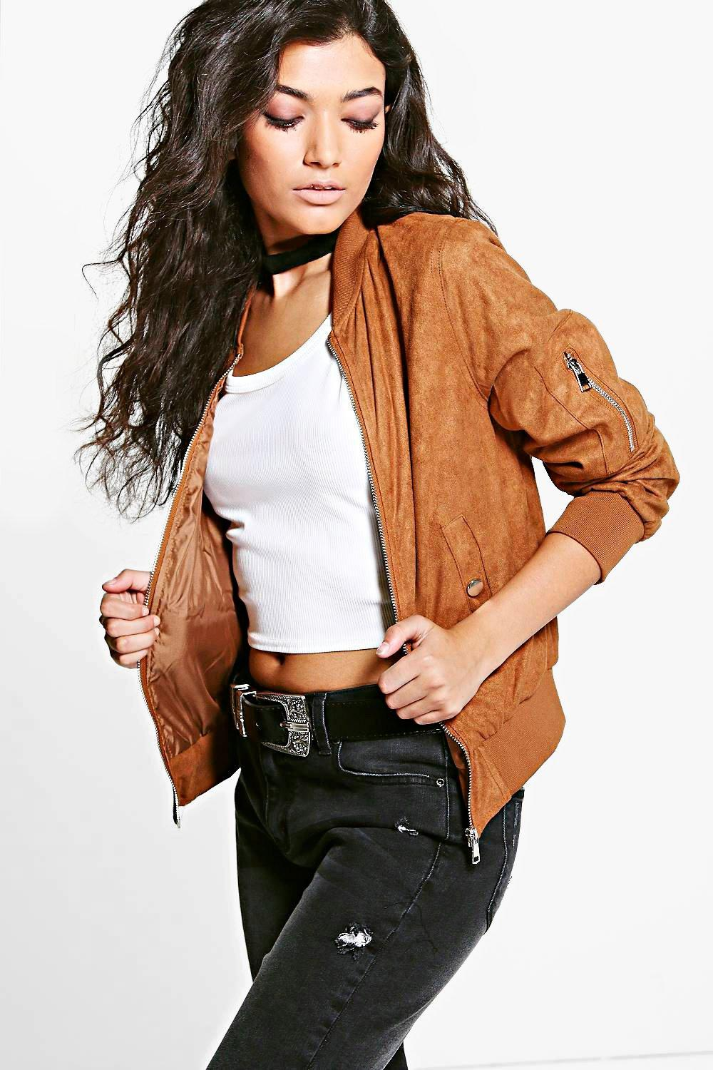 Faith Suedette Bomber Jacket