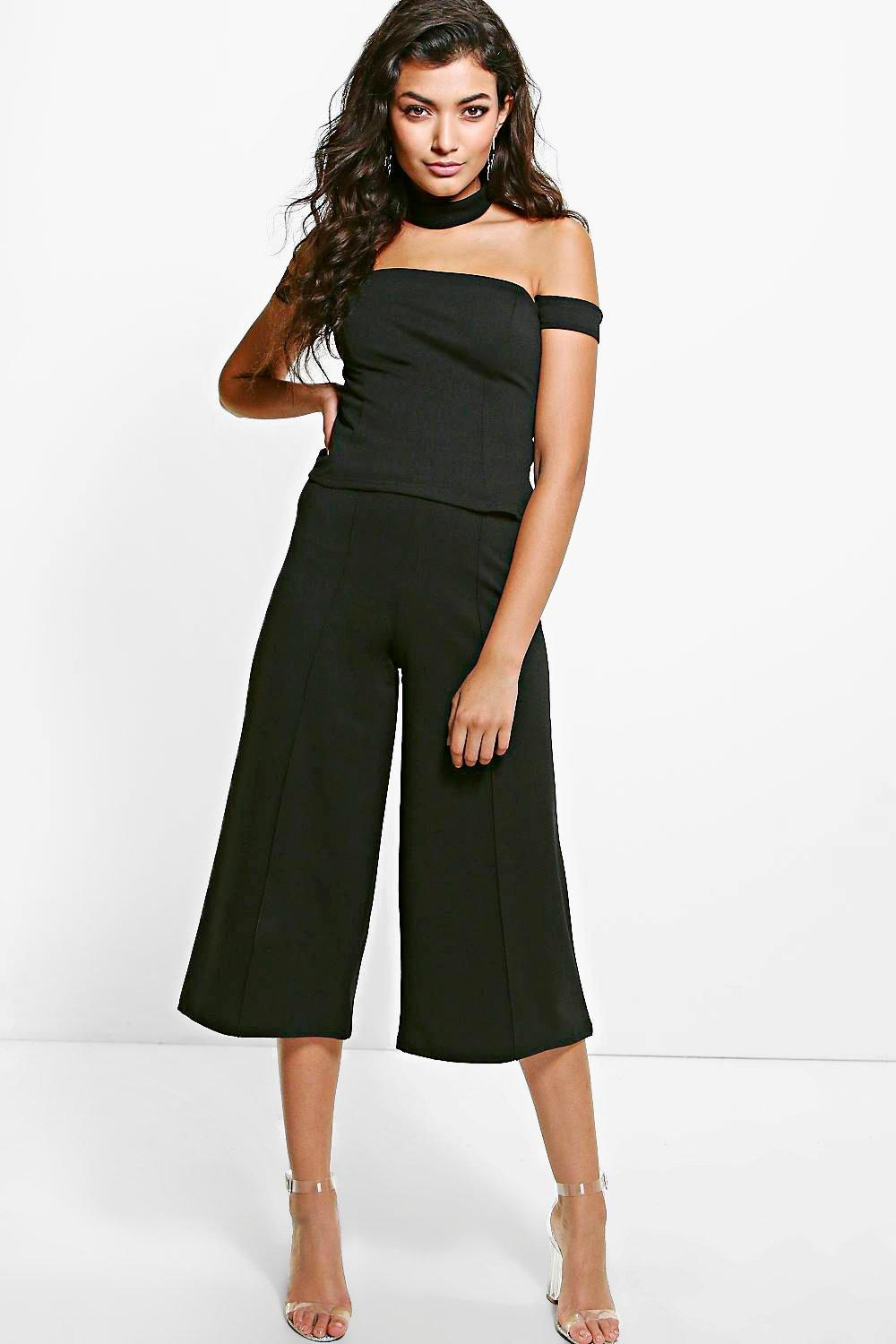 Evelyn Pintuck Culottes