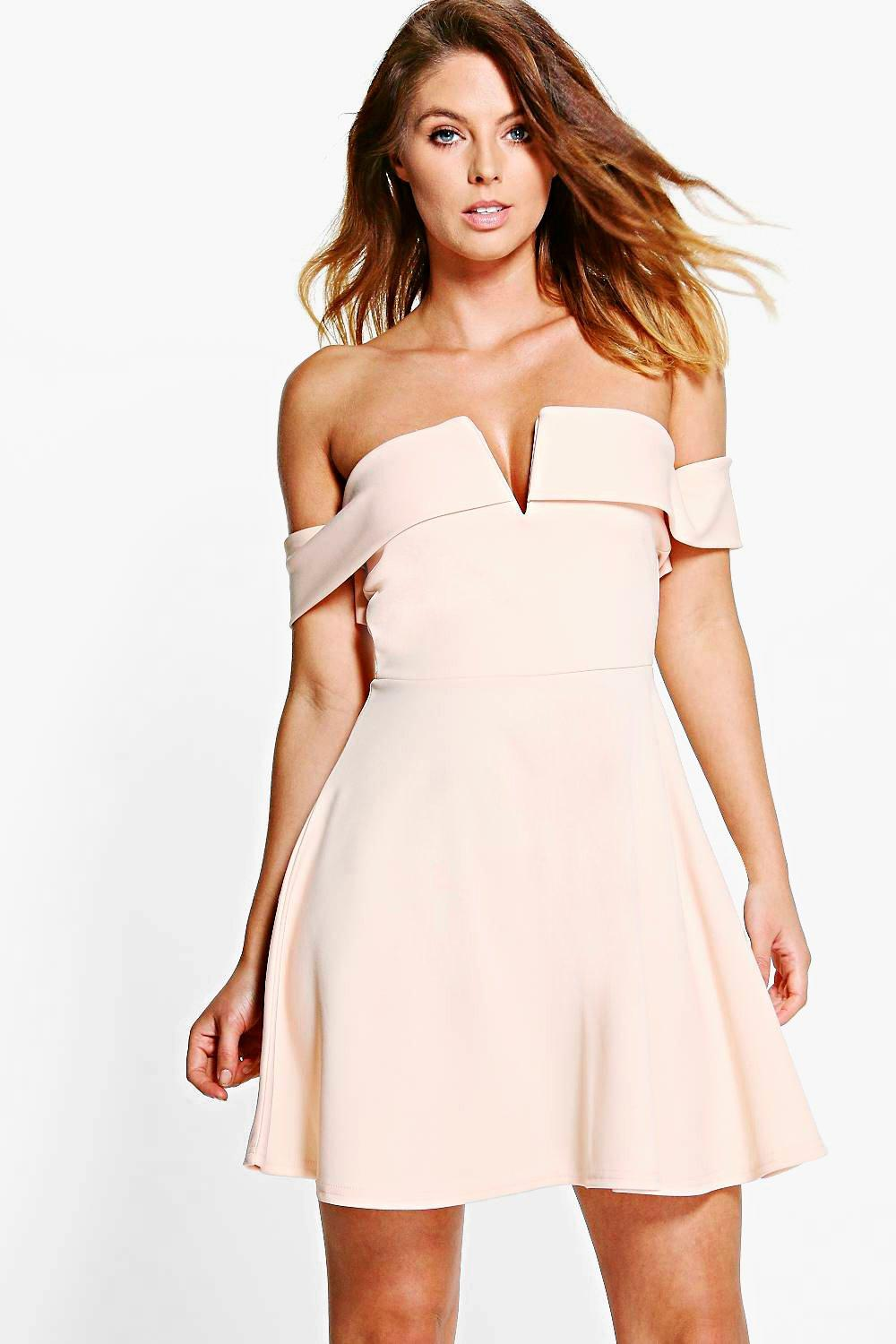 Faye Off Shoulder Skater Dress