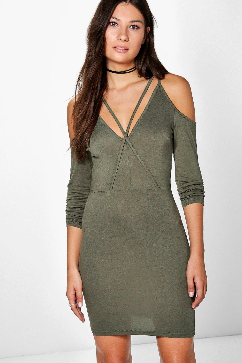 Niamh Cold Shoulder Bodycon Dress