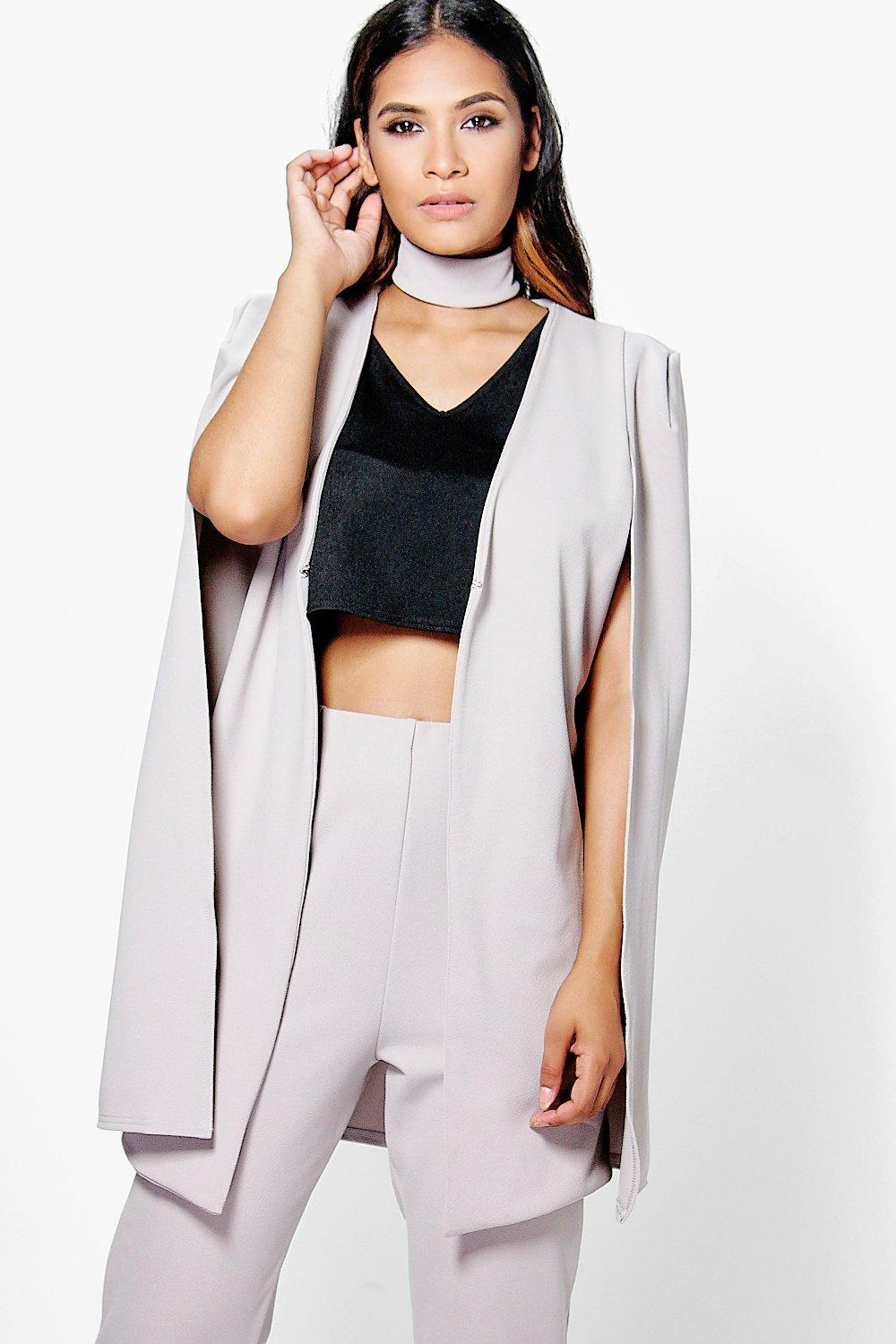 Lauren Tailored Cape With Detachable Choker