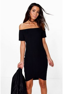 Harper Ribbed Asymetric Bodycon Dress