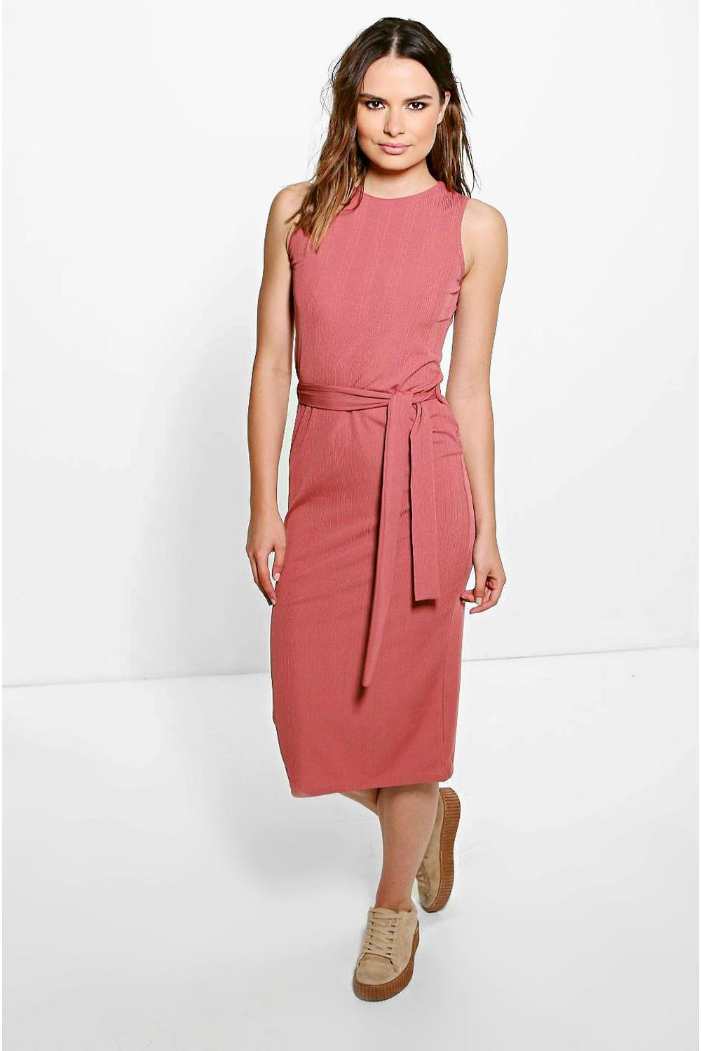Shannon Textured Midi Dress