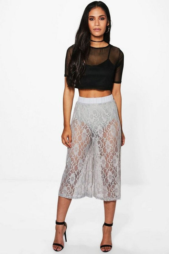 Arianna Lace Wide Leg Culottes