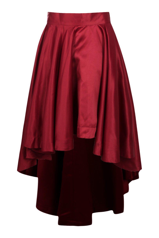 boohoo womens annia satin dipped hem maxi skirt ebay