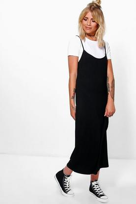 Gloria 2 in 1 Cami Slip Midi Dress