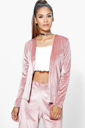 Lauren Velvet Edge to Edge Jacket