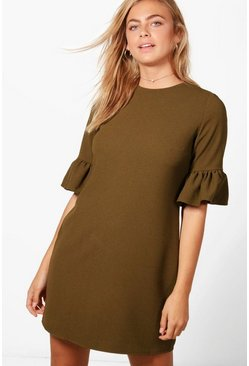 Rhia Ruffle Sleeve Shift Dress
