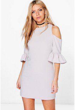 Rachel Ruffle Sleeve Shift Dress