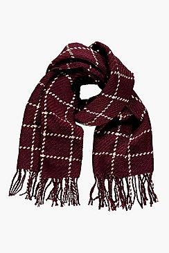 Keely Checked Large Wrap Scarf