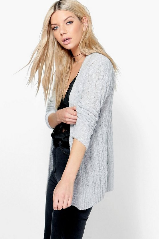Julia Cable Boucle Edge To Edge Cardigan