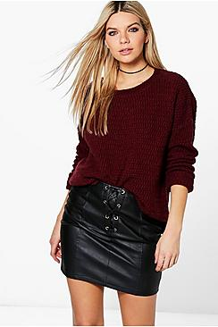 Amelia Turn Up Cuff Textured Jumper