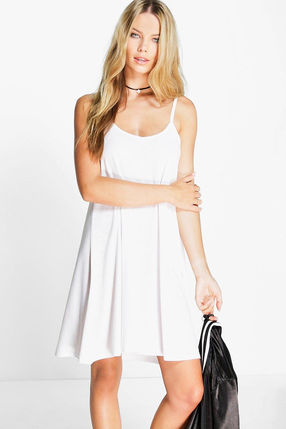 Phoebe Textured Swing Dress