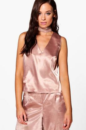 Maisie Satin Choker Top