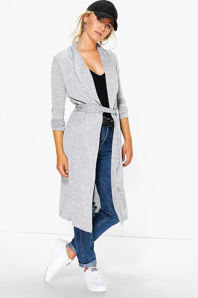Evie Waterfall Belted Cardigan