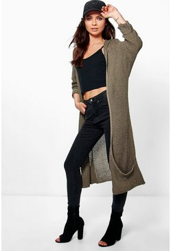 Sophie Hooded Long Slouch Cardigan