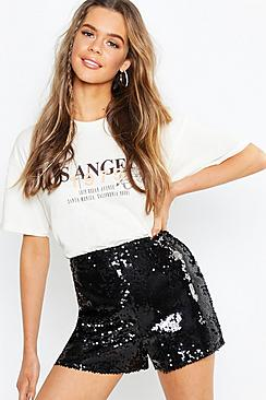 Boutique Ellie All Over Sequin Shorts