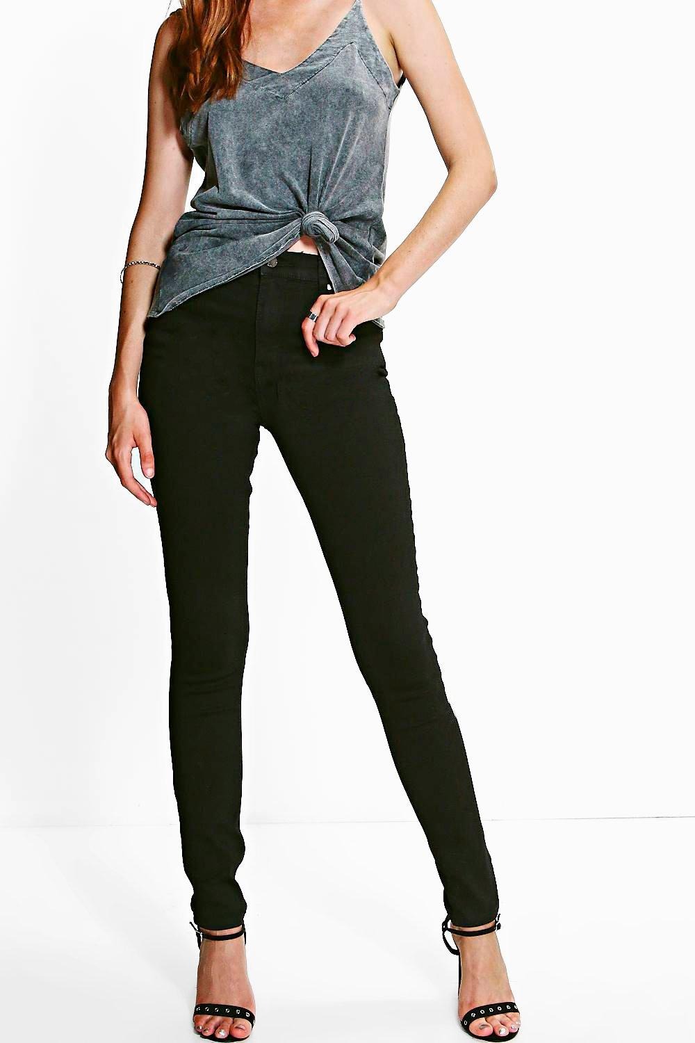 Eli Black 5-Pocket Full Length Skinny Jeans